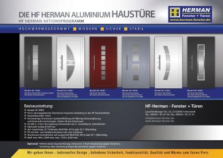 Die HF Herman Aluminium Haustüre